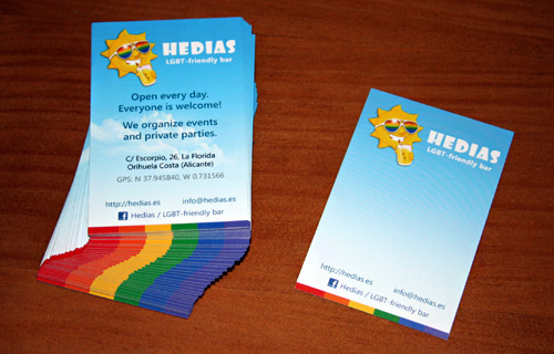 Визитки для бара HEDIAS