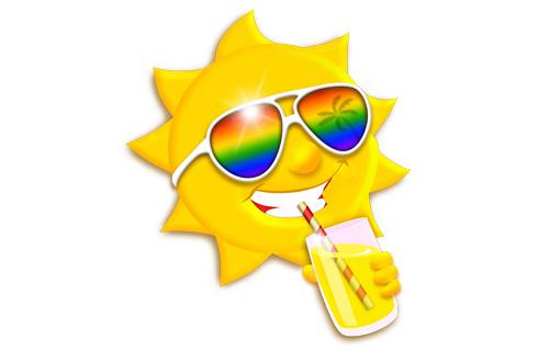 Довольное жизнью Солнце