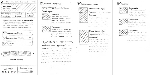 Sketch of a course page