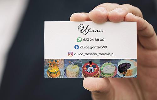 Business card, version 1, back side