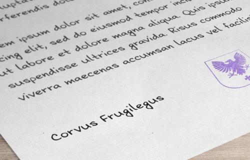 Corvus Frugilegus Font